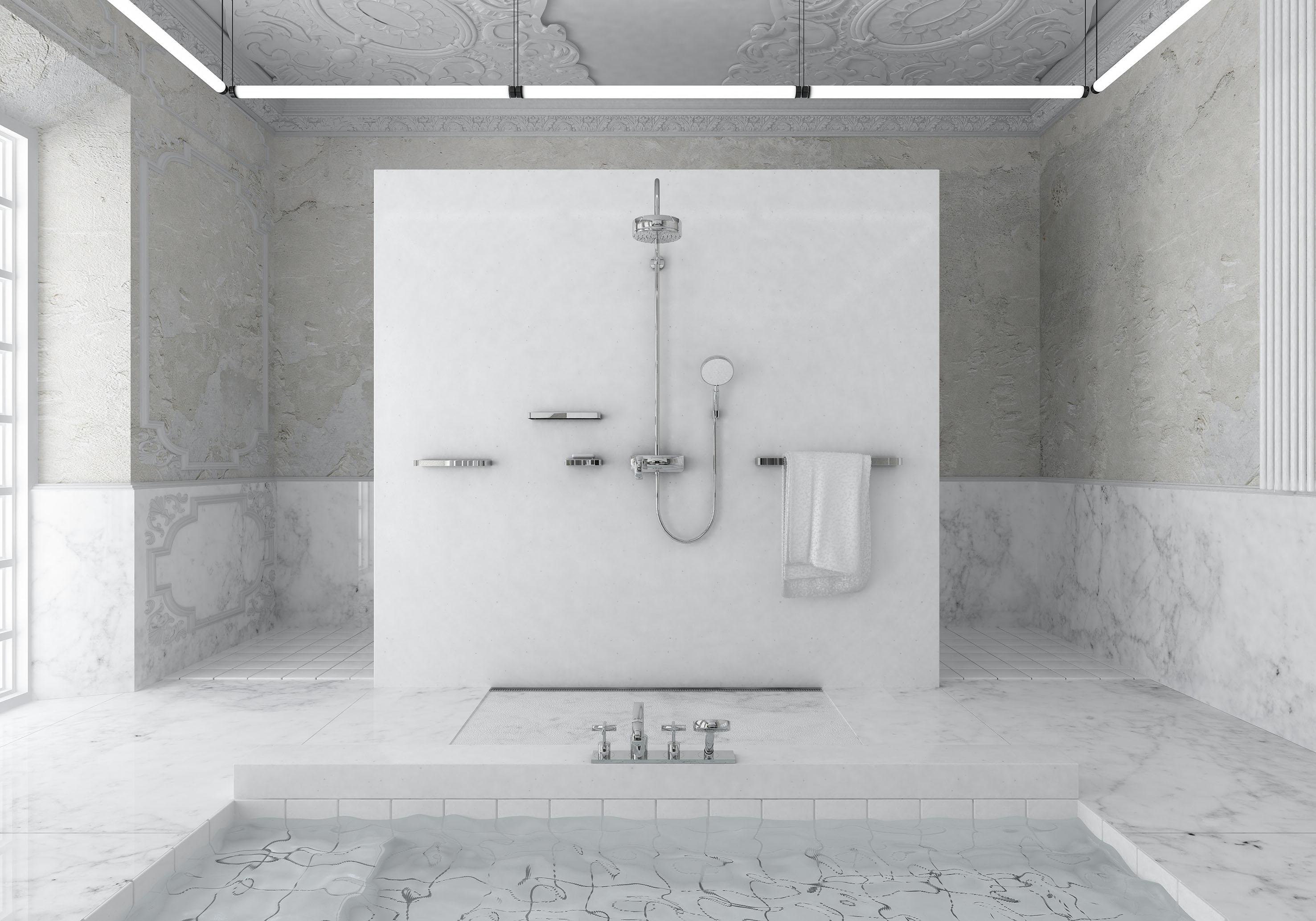 widok na prysznic maly